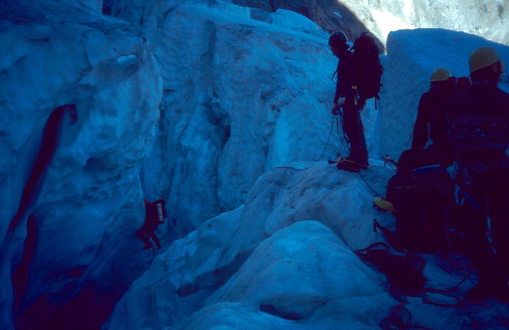 ushba icefall