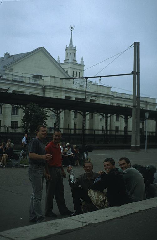Na dworcu w Brześciu Białoruskim