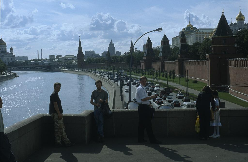 Widok z mostu na rzece Moskwa