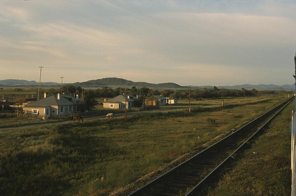 Pociąg w Kazachstanie