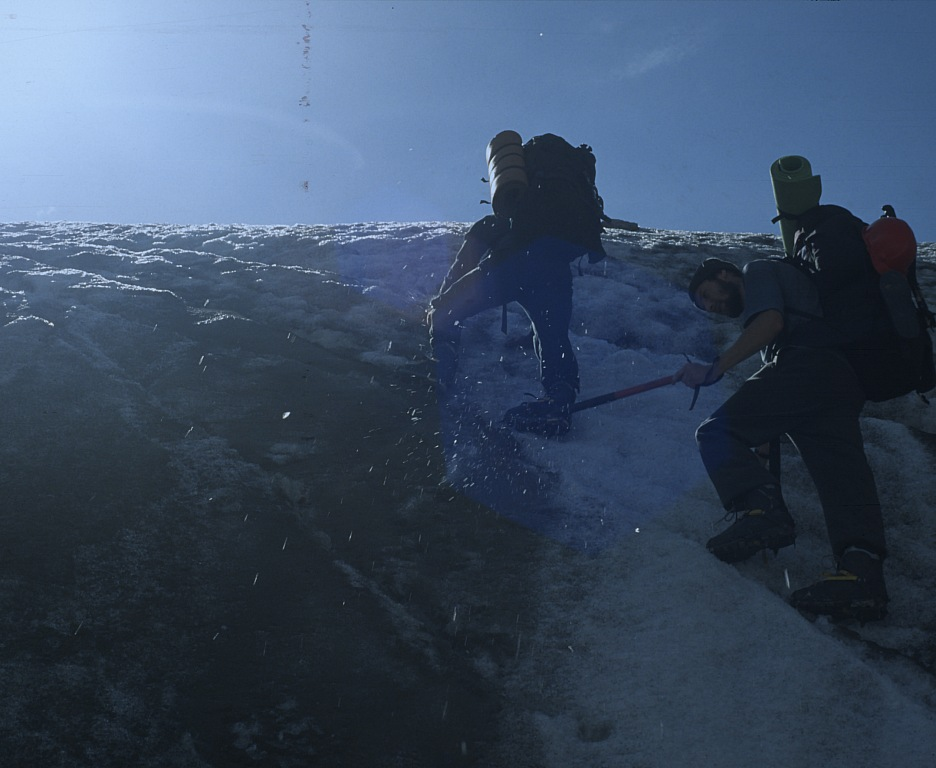 Wejście na czoło lodowca