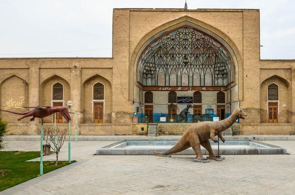 Zauroczyły nas makiety dinozaurów przed Muzeum Historii Naturalnej