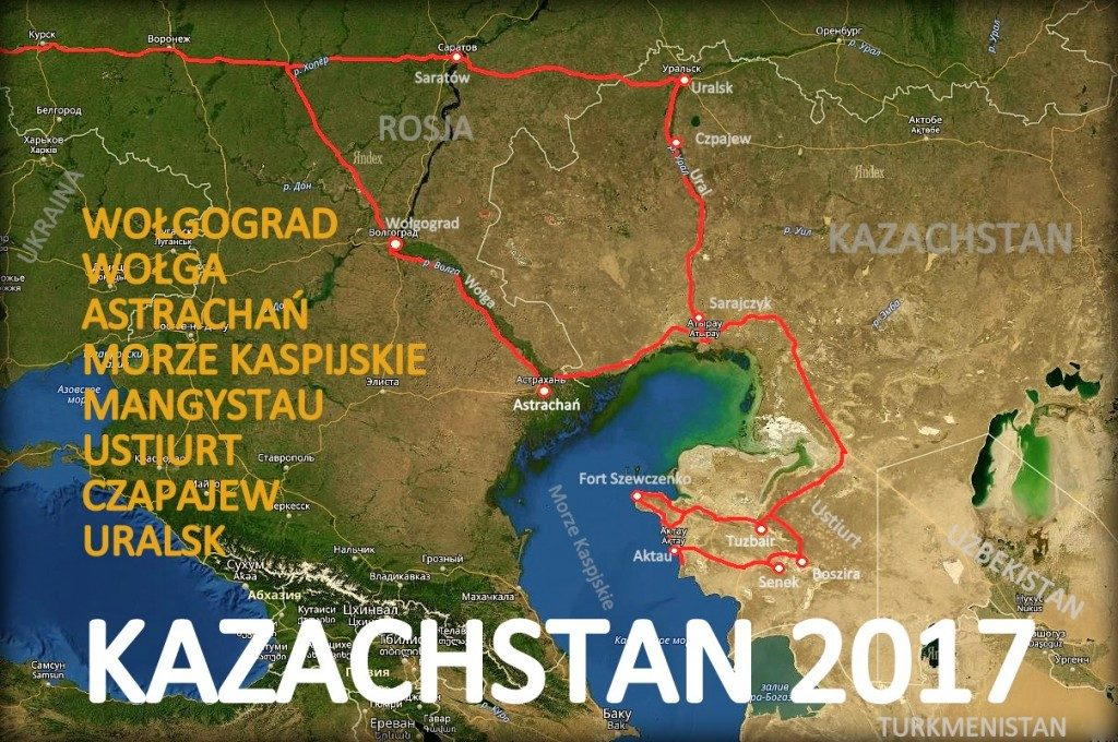 Mapa Kazachstan - Mangystau Ustiurt