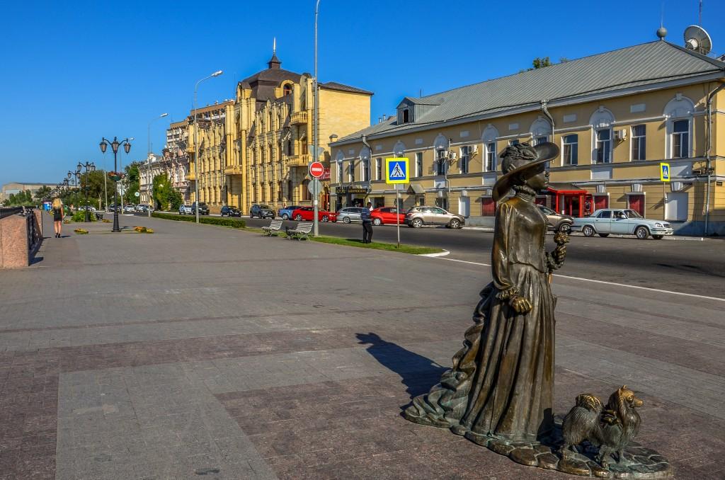 Bulwar nad Wolga w Astrachan