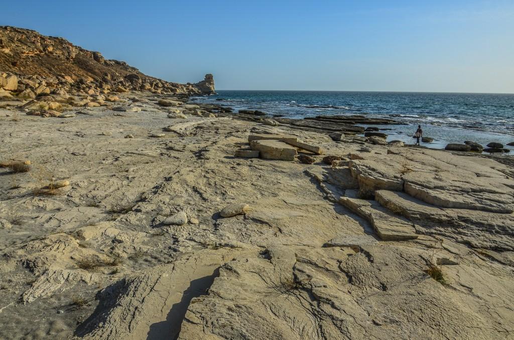 brzeg morza kaspijskiego