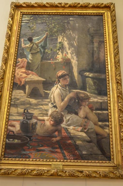 """Henryk Siemiradzki """"U wodopoju"""". Siemiradzki by przedstawiany jako malarz rosyjski."""