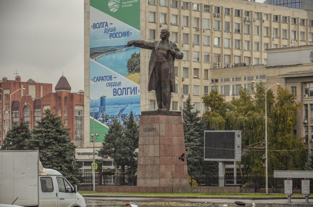 """""""Wołga - dusza Rosji. Saratów – serce Wołgi"""" pokazuje Lenin."""