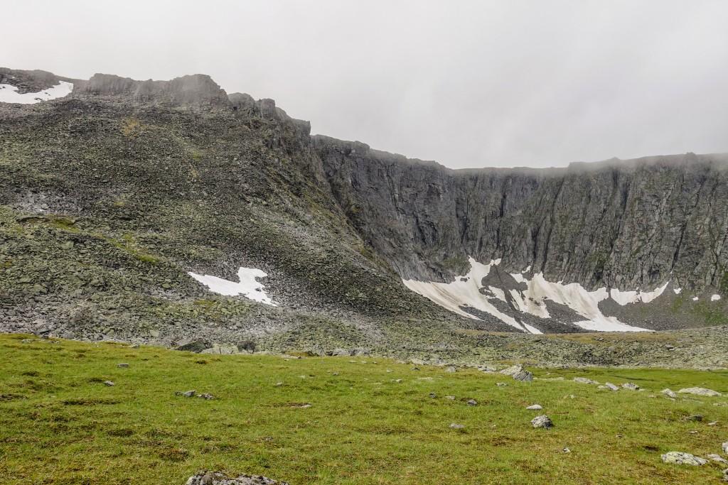 Lodowiec w górach Ural Subpolarny