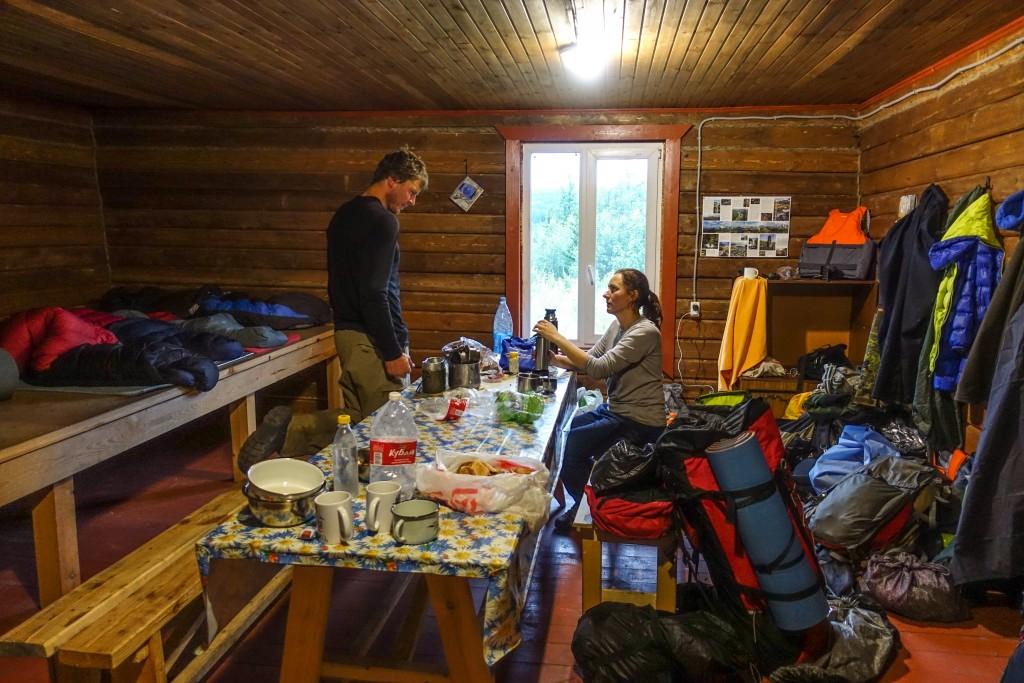 Turbaza w górach Ural