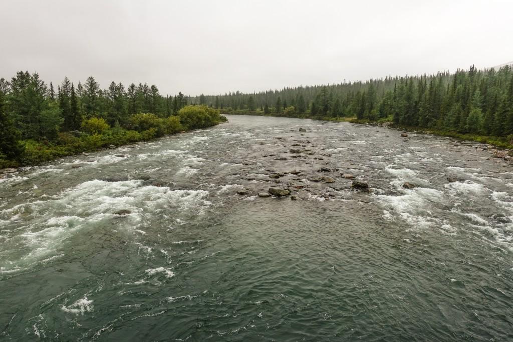 Rzeka Balbanju Ural Subpolarny