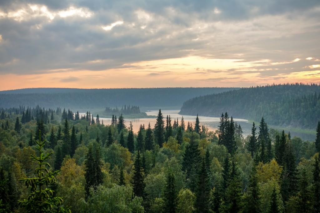 rzeka Kożym na Uralu Subpolarnym
