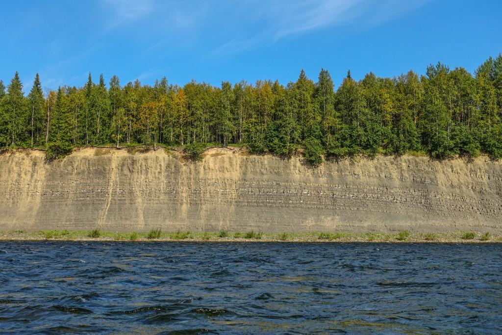 Spływ rzeka na Uralu Subpolarnym