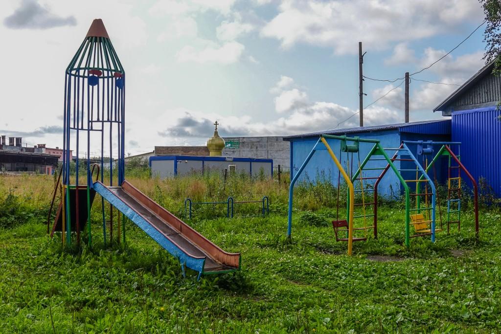 Plac zabaw w miejscowości Inta. rosja