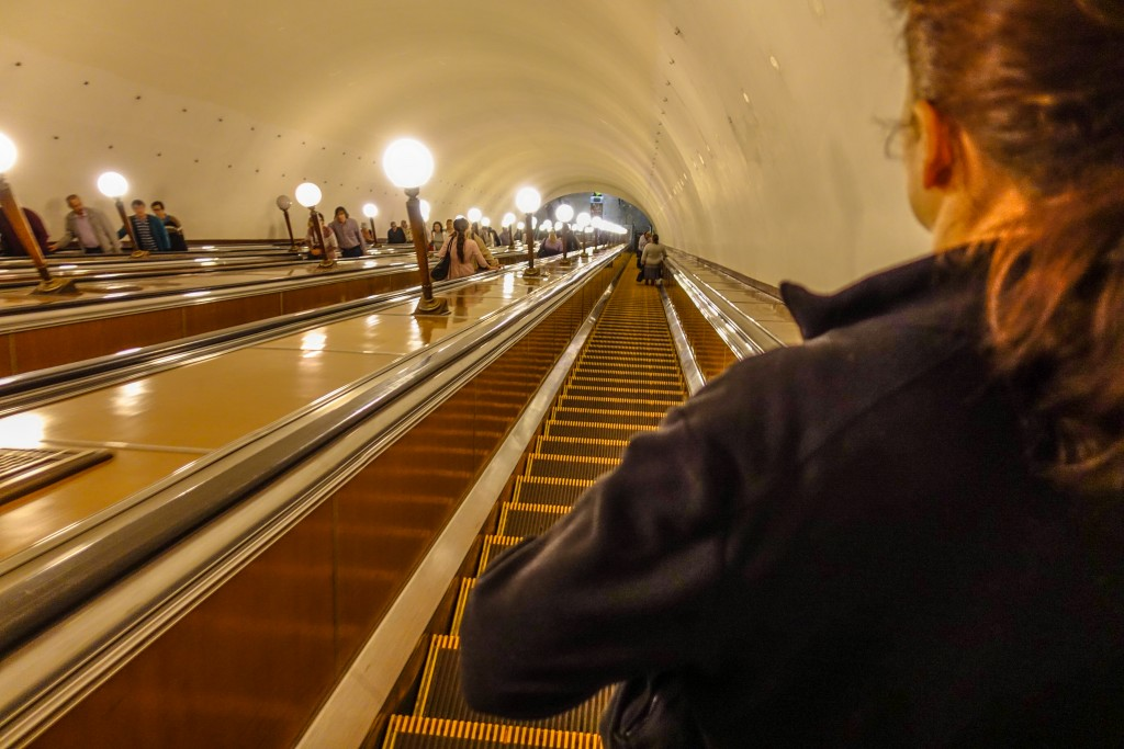 Schody ruchome Moskiewskie Metro