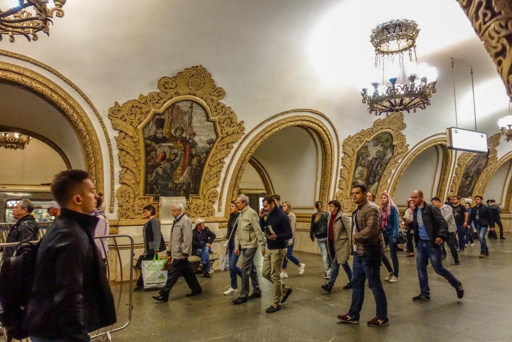 Stacja moskiewskiego metro
