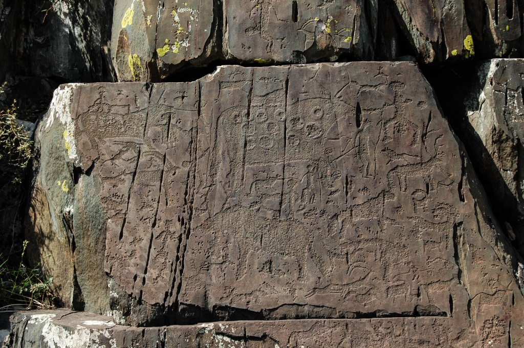 Petroglify Kalbak Tasz (Калбак-Таш)