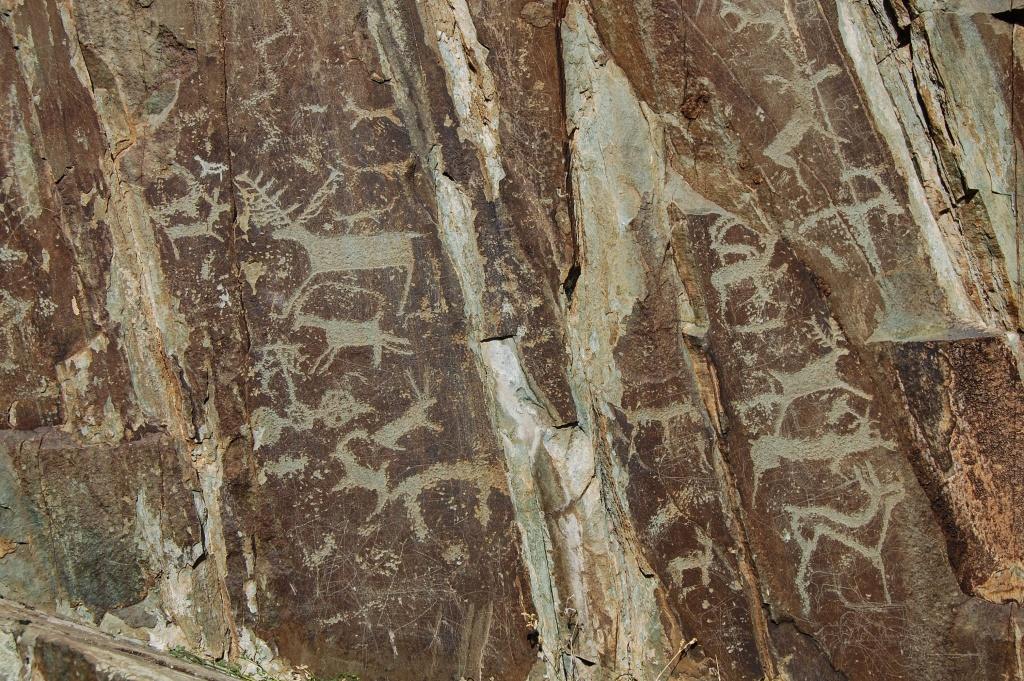 Petroglify, rysunki naskalne Ałtaj