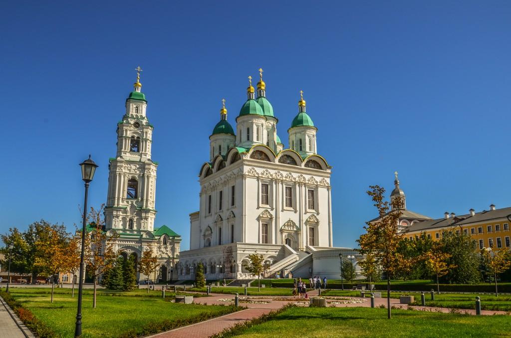 Kreml w Astrachaniu Sobór Zaśnięcia Matki Bożej