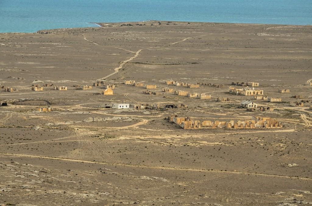 Opuszczona wioska Kanga kazachstan