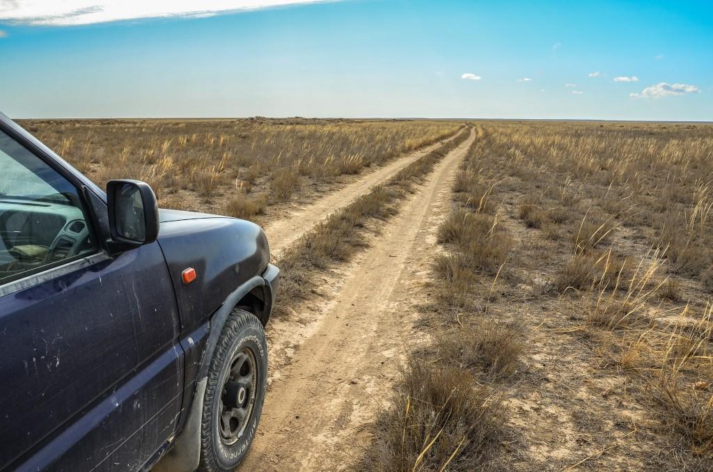 droga przez kazachski step