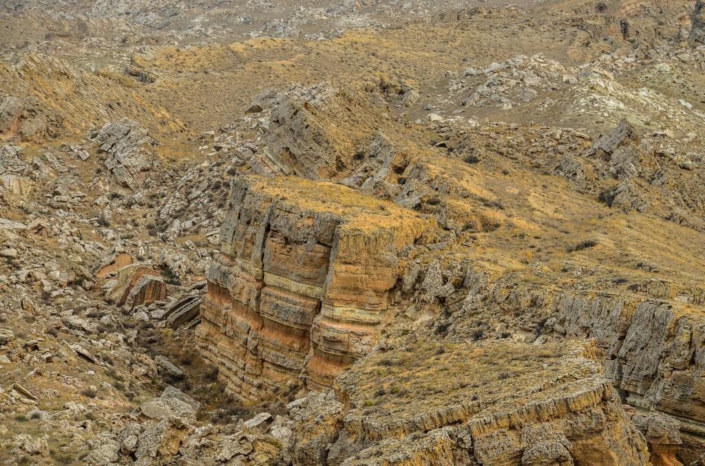 wielkie osuwisko. Mangistau Kazachstan