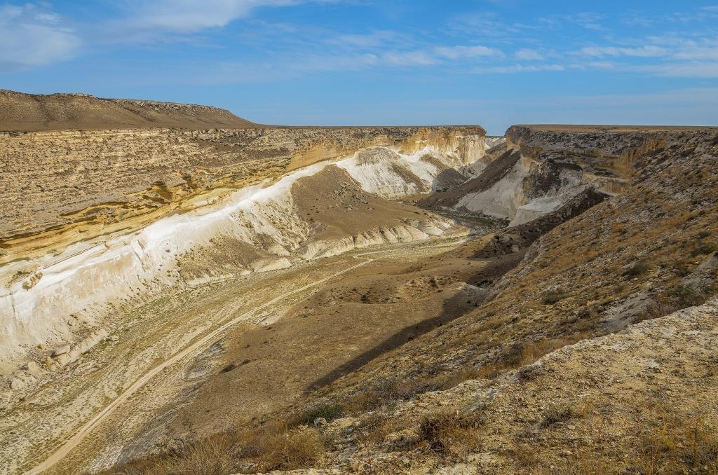 Mangystau Kazachstan kanionu Kapamsai (Капамсай).
