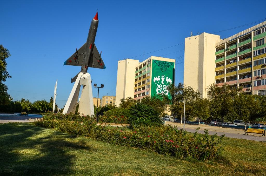 Aktau Kazachstan samolot Mig 21.