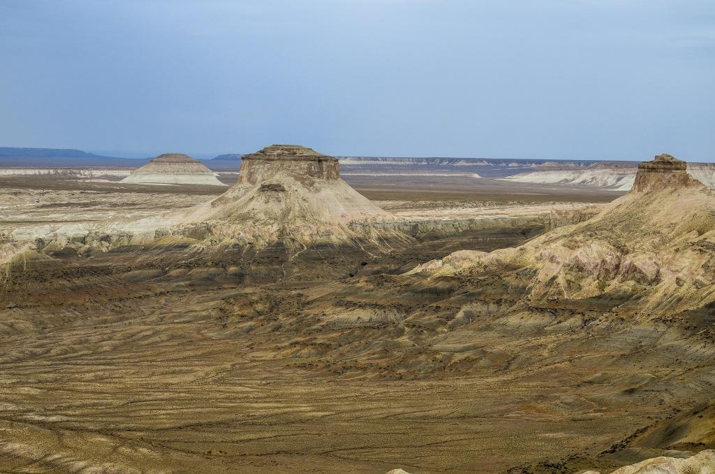 Krajobraz Ustiurt Kazachstan