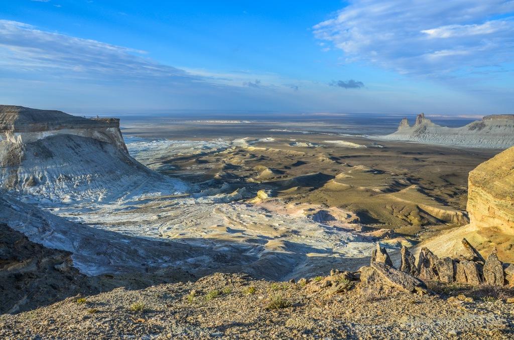 Krajobrazy Mangystau. czynki Ustiurt