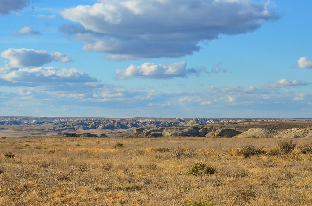 Stepy zachodniego Kazachstanu Say-Utes (kaz. Сай-Өтес).