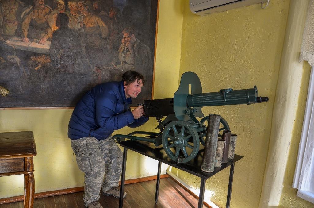 Karabin maszynowy Maxim w muzeum