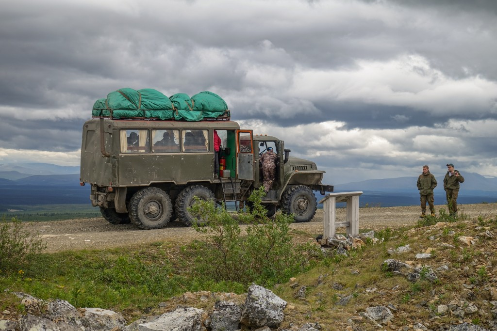 Ciężarówka Ural w górach Ural