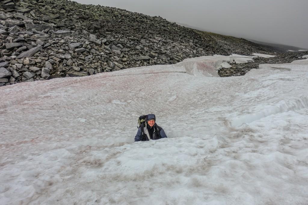 lodowiec na górze Narodnaja Ural Subpolarny