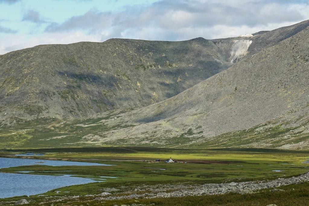 Kopalnia kwarcu w górach Ural Subpolarny