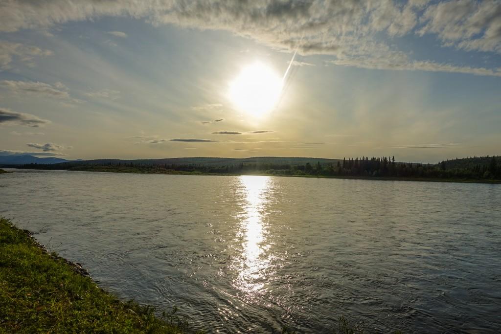 rzeka na uralu Subpolarnym w parku narodowym Jugyd Wa