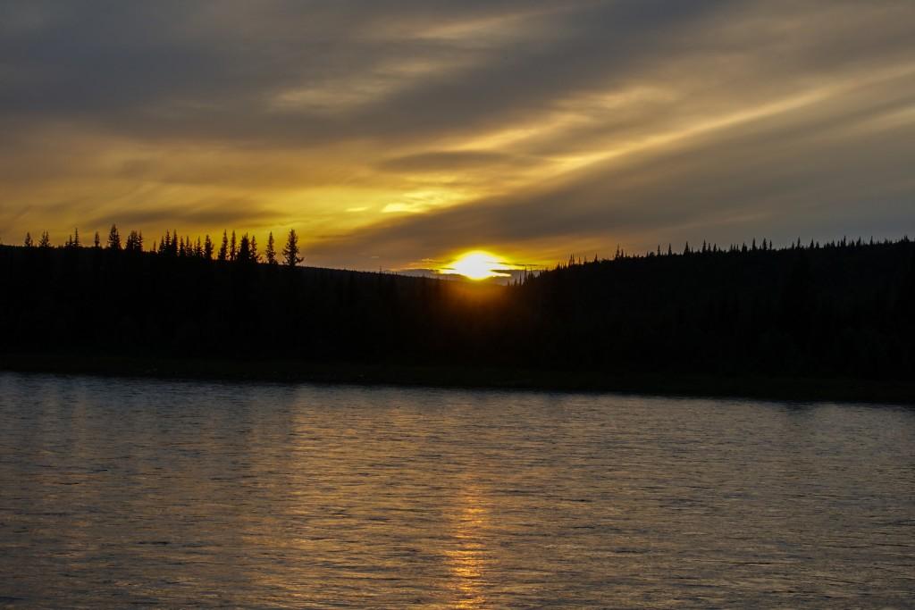 zachód słońca Ural