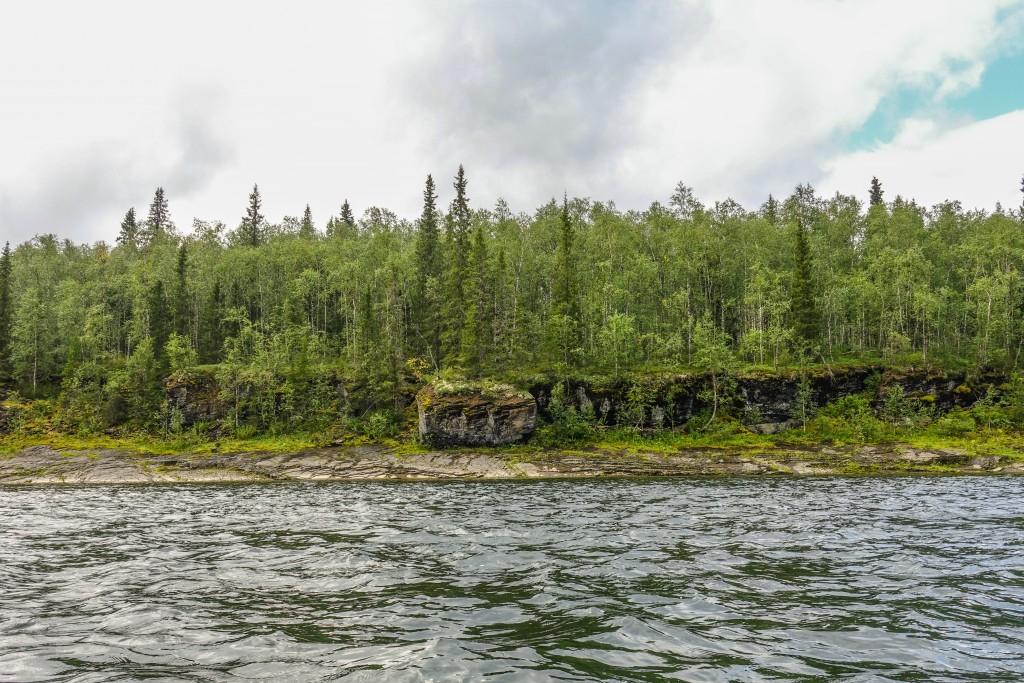 rzeka Kożim na Uralu Subpolarnym
