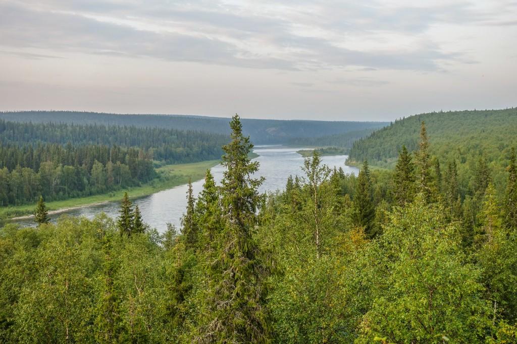Rzeka Kożym góry Ural w Rosji