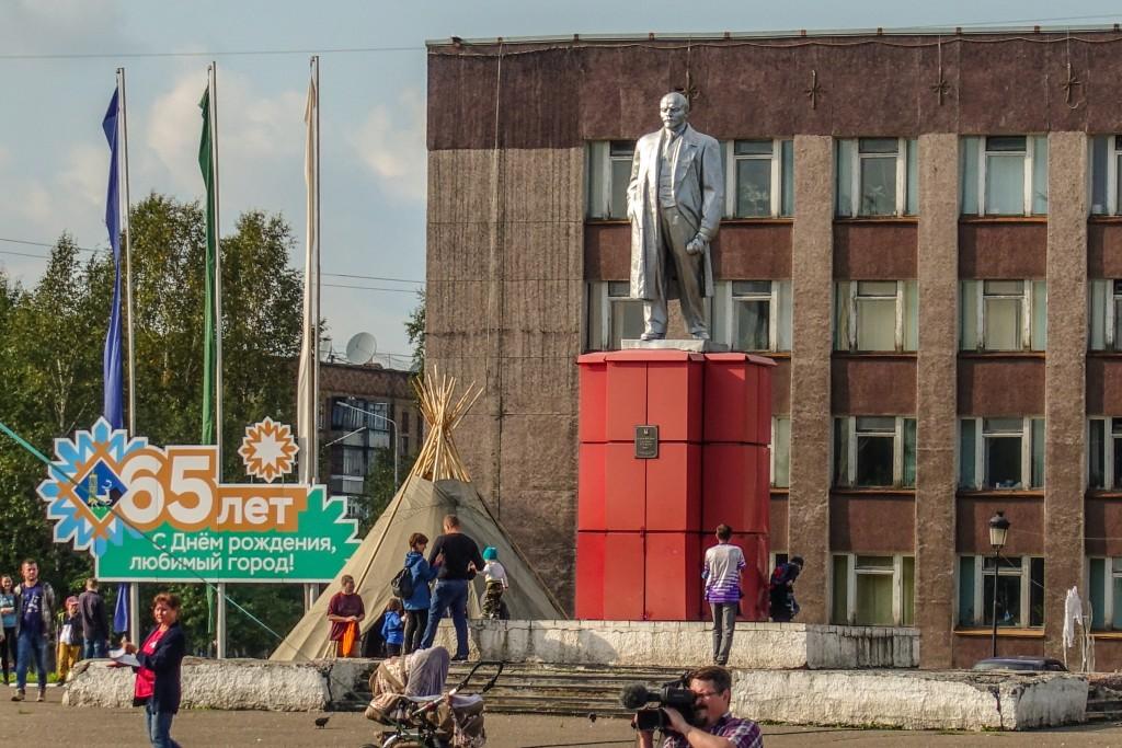 Pomnik lenina Inta Rosja